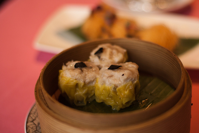 Chinese truffles: steamed dumplings with a truffle garnish